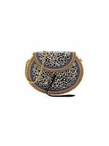 Rubie Embellished Leather-Trimmed Crossbody Bag