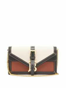 Burberry - Tb Canvas And Leather Chain Strap Bag - Womens - Cream Multi