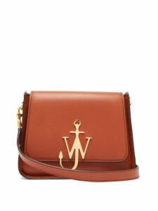 Jw Anderson - Anchor Logo Plaque Leather Cross Body Bag - Womens - Tan