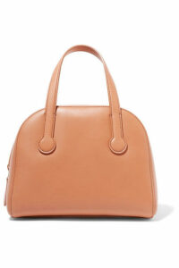 The Row - Sporty Bowler Small Leather Tote - Tan