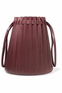 Mansur Gavriel - Pleated Leather Bucket Bag - Burgundy