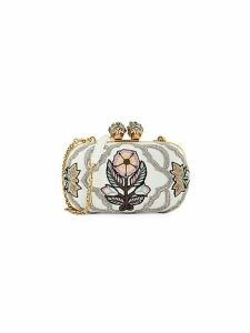 Embellished Convertible Leather Clutch