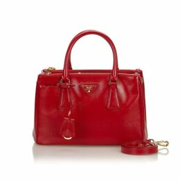 Prada Red Saffiano Galleria Satchel