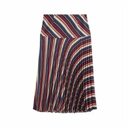 Jigsaw Irregular Stripe Pleated Skirt