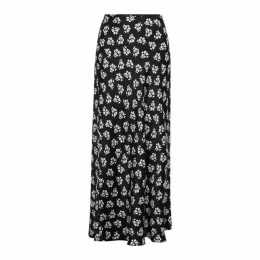 RIXO Kelly Floral-print Silk-blend Midi Skirt