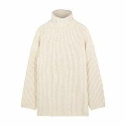 Acne Studios Cream Roll-neck Wool Jumper