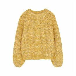 Gestuz Zia Yellow Chunky-knit Jumper