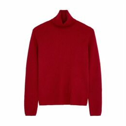 S Max Mara Nabucco Red Wool-blend Jumper