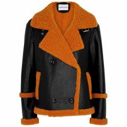 Stand Studio Lilli Black Faux Leather Jacket