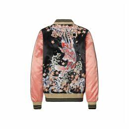 Evisu Souvenir Jacket With Carp And Sakura Embroidery