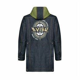 Evisu Kamon And Logo Embroidered Coat