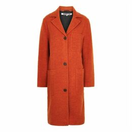 McQ Alexander McQueen Orange Wool-blend Coat