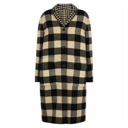 Belstaff Rona Reversible Checked Wool-blend Coat