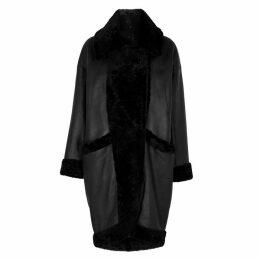 Dom Goor Black Reversible Shearling Coat