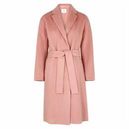 Vince Pink Wool-blend Coat