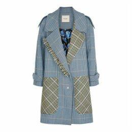 Brøgger Marla Checked Wool-blend Coat