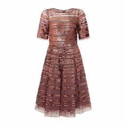 Aidan Mattox Striped Sequin Dress