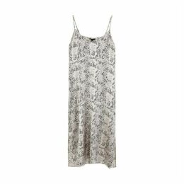 ATM Anthony Thomas Melillo Grey Snake-print Silk Dress