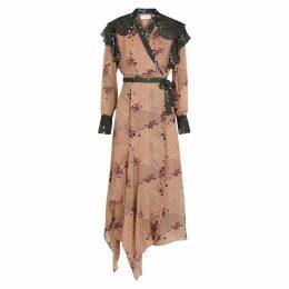 Hofmann Hélene Printed Chiffon Wrap Dress