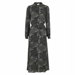Hofmann Alicia Printed Chiffon Shirt Dress