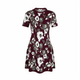 Kenzo Floral-intarsia Stretch-knit Mini Dress