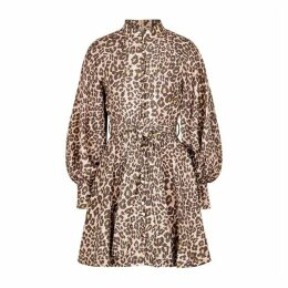 Zimmermann Sabotage Leopard-print Silk Mini Dress