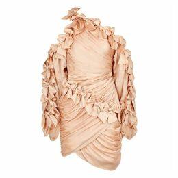 Zimmermann Sabotage Dusky Pink Silk Mini Dress