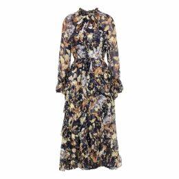 Zimmermann Sabotage Floral-print Silk-chiffon Midi Dress