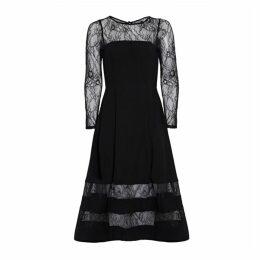 Aidan Mattox Shadow Stripe Crepe Dress