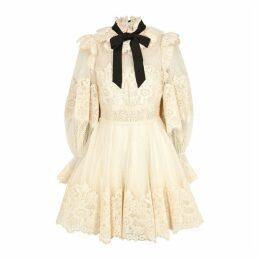Zimmermann Espionage Ecru Lace Mini Dress