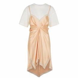 Alexander Wang Peach Silk-satin Dress
