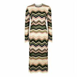 M Missoni Zigzag Cotton-blend Midi Dress