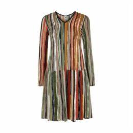 M Missoni Striped Fine-knit Dress
