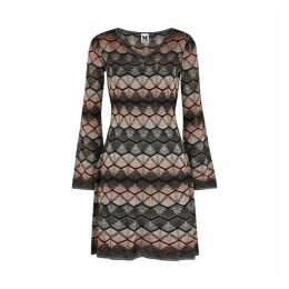 M Missoni Zigzag Metallic-knit Dress