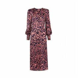 Kitri Mindy Animal Print Silk Dress