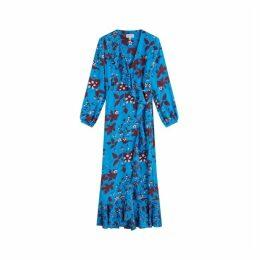 Jigsaw Blackberry Silk Maxi Dress