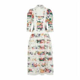 Zimmermann Allia Floral-print Linen Midi Dress