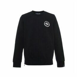 Evisu 4 Elements Printed Sweatshirt With Side Zippers
