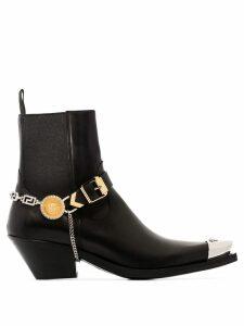Versace Medusa steel-toe ankle boots - Black