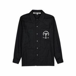 McQ Alexander McQueen Black Brushed Cotton Shirt