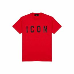 Dsquared2 Red Printed Cotton T-shirt