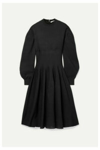 Givenchy - Ribbed Silk-blend Midi Dress - Black