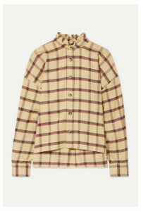 Isabel Marant Étoile - Ilaria Ruffled Checked Cotton-flannel Shirt - Beige