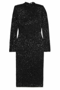 Rebecca Vallance - Mica Sequined Crepe Dress - Black