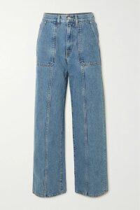 Max Mara - Colimbo Ruched Wool-crepe Dress - Blue