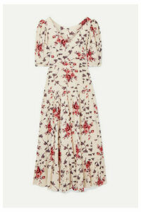 LoveShackFancy - Lenny Floral-print Cotton-voile Maxi Dress - Cream