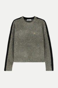 Bella Freud - Teeny Bopper Cropped Metallic Knitted Sweater - Green