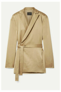 Mother of Pearl - Constance Satin Wrap Blazer - Gold
