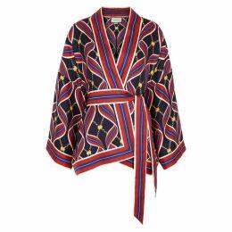 Gucci Printed Silk-twill Blouse