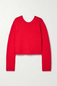 Stella McCartney - Patchwork Wool-jacquard Sweater - Red